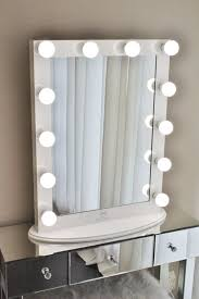 all white makeup vanity. hollywood makeup vanity mirror white with dimmer, tabletop or wall mounted vanity, led bulbs all
