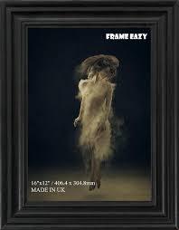 swept photo frame picture frame 16 x 12 size in black white oak