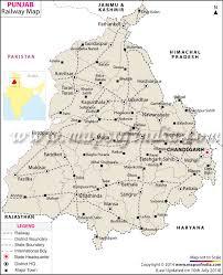 Indian Railway Route Chart Punjab Rail Network Map