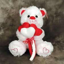 white teddy bears with hearts and roses. Interesting White Teddy Bear Holding Red And White Heart Flowers Throughout White Bears With Hearts And Roses