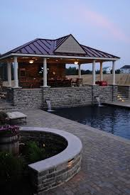 open pool house. Open Air Pool House And Deck At Dusk Traditional-pool A