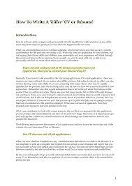 How To Write A Killer Cv Resume Photo Album Website How To Write A