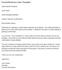 formal business letters templates formal business letter template just letter templates