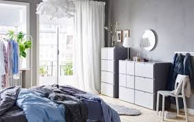 Image Wardrobe Blue Grey And White Bedroom With Two Visthus Chestofdrawers Ikea Bedroom Furniture Ideas Ikea