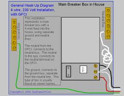 electrical installation guides for your spa or hot tub if you have 4 wire service to your home
