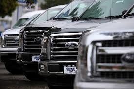 New Ford F 150 Pickups Are Displayed On The Sales Lot At Serramonte Ford On