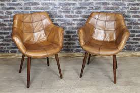 modern tan leather chair in vintage style tan leather bucket armchair kitchen dining chair the ideas