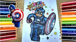 Tập Tô Màu - Lego Siêu Anh Hùng Đội Trưởng Mỹ Captain America ♦️ Lego CNT -  YouTube
