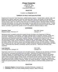 images about example resume cv on pinterest   resume  cover    carpenter sample resume   http   exampleresumecv org carpenter sample