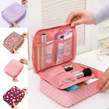 image is loading portable travel makeup toiletry case pouch flower organizer