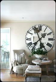 diy large wall clocks love the huge rustic clock for dining room wall modern diy large