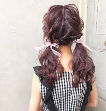 くすみピンクのツインテールcherie Hair Design所属大久保ひでなり