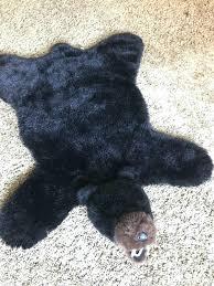 faux bear rug bearskin fake fur white
