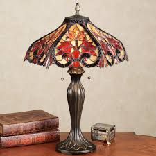 whispering foliage stained glass table lamp whispering foliage lamp with led bulbs touch to zoom