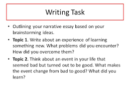 unit narrative essay ppt video online  11 writing task outlining your narrative essay
