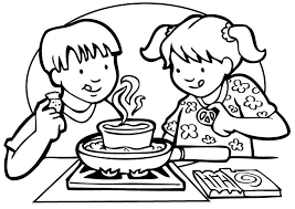Small Picture Coloring page cooking img 7141
