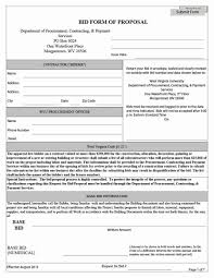 bid proposal forms sample construction estimate form and construction bid proposal