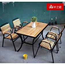 get quotations outdoor tables and chairs wujiantao wood preservative wood patio garden furniture leisure furniture suite balcony patio