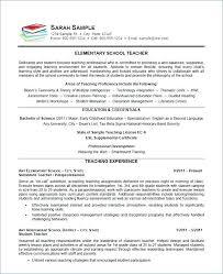 Examples Of Teachers Resumes - Sarahepps.com -