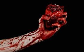 terrible bloody hand hold torn bleeding ... - Requiem Haunted House