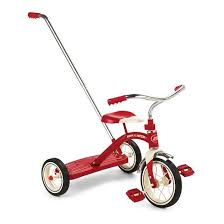 push handle. radio flyer® classic tricycle with push handle - red n