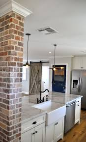 Brick Flooring In Kitchen 17 Best Ideas About Kitchen Brick On Pinterest Exposed Brick