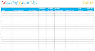 Printable Wedding Guest List Organizer Wedding Guest List Worksheet Magdalene Project Org