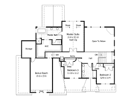 traditional house plan second floor 091d 0023 house planore