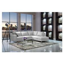 Cantrall White Sofa w Left Chaise