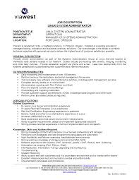 Resume Fascinating Job Descriptions Template Linux Administrator SlideShare  Oracle Resume markushenri tk