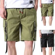 Mens Designer Cargo Shorts Sale 2019 Ishowtienda Cargo Shorts Plus Size Mens Casual Outdoors With Pocket Loose Work Pants Midweight Beach Shorts Pant Vetement Homme From