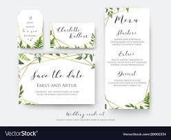 Place Card Design Wedding Floral Save The Date Menu Place Card