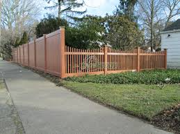vinyl picket fence front yard. Unique Fence Exquisite Front Yard Privacy Fence Cedar Grain PVC Scallloped  Illinois U0026 Oklahoma Section To Vinyl Picket O