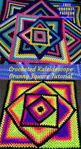 Crochet Blanket Pattern New Kaleidoscope Granny Blankets Crochet Patterns Free Styles Idea