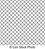 Steel mesh metal fence seamless transparent structure vector