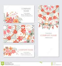 cards templates set of business or invitation cards templates corporate identity