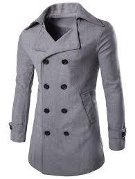 60 half back belt sleeve tab cuff longline pea coat