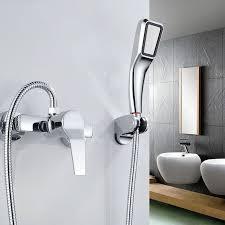 image of handheld shower head for bathtub faucet