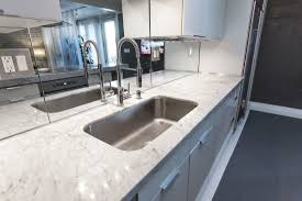Mirror Tiles Decorating Ideas Excellent Rectangle Undermount Sink With White Marble Countertop As 92