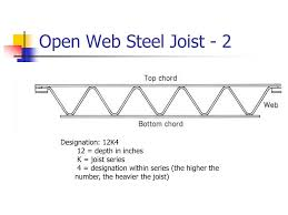 Joist Design Example Ppt Introduction Of Open Web Steel Joist Deck And