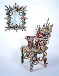 bottle cap furniture. bottle cap for baroque sculptural furniture recycled recycling metal t