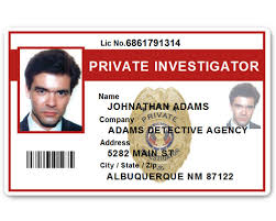 Investigator Private Pfp022 Id Card Pvc
