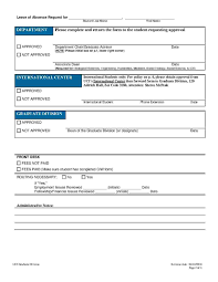 Leave Of Absence Form Template Templates Leave Of Absence Letter Templates Hunter