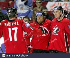 Canada' (L-R) Scott Hartnell, Trevor ...