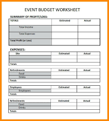 Event Planning Budget Sheet Spreadsheet Template Planner Templates ...
