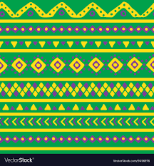 Mexican Pattern Awesome Green Mexican Pattern Royalty Free Vector Image