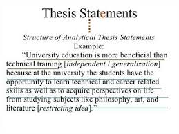 the answer to the question is the thesis statement for the essay