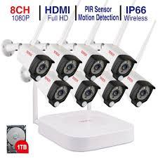 2019 <b>Tonton 1080P</b> Wireless CCTV System 2M 8ch <b>HD Wi Fi NVR</b> ...