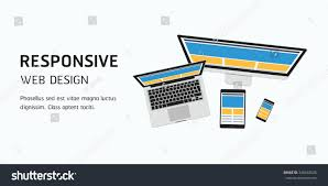 Web Design Flat Design Vector Responsive Web Design Flat Design Stock Vector