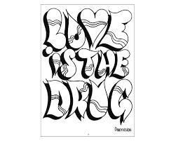 Drawn Graffiti Coloring Page Pencil And In Color Drawn Graffiti